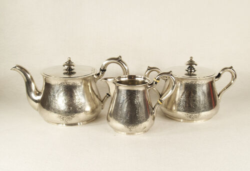 Imperial Antique Sazikov Russian 84 Silver Tea Set