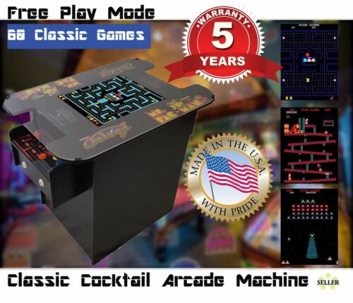 Top Holiday Gifts Cocktail Arcade Machine With 60 Classic Games- Pac-Man, Galaga, Donkey Kong