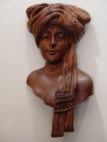 ANTIQUE Hand Carved Art Nouveau Nude Lady