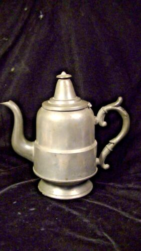 Vintage Pewter Goose neck Coffee Pot lot#189b