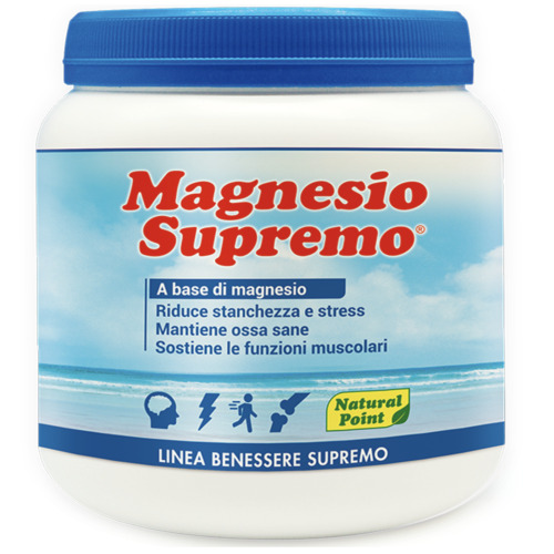 Magnesio Supremo NATURAL POINT  300 gr Antistress con Mag Citrato e Carbonato