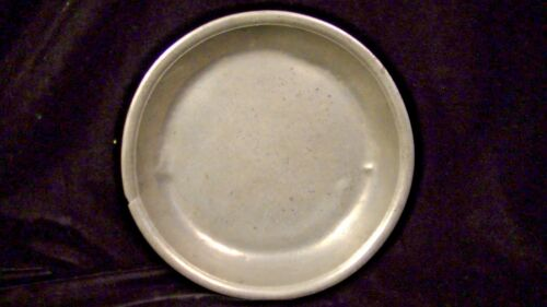 "19th Cent.Pewter Plate Bowl, German, Marked Ein Englisch Zinn & TL, 8""  lot#200b"