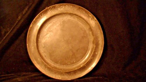 "19th Cent.Pewter Plate, marked Smith & Feltman, 10 1/4"" lot#194b"