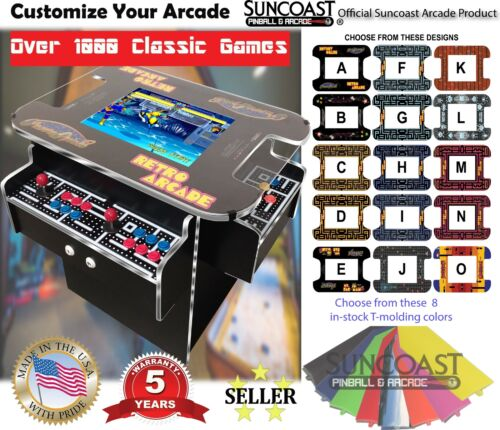 Top Holiday Gifts 🔥3 Sided Cocktail Arcade Machine With 1000+Games/Ms Pacman, Donkey Kong, Galaga