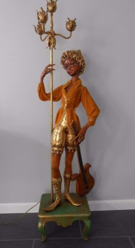 Vintage Monumental Pixie Elf Figural Hollywood Regency MCM Floor Lamp Life Size