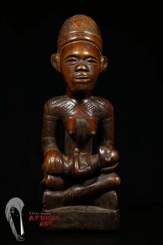 Discover African Art Fine Bakongo Yombe Maternity Figure