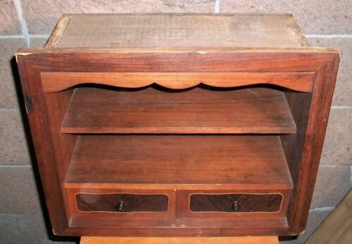 Antique Drawer & Shelf Section from Hardwood Cabinet. Shadow Box, Display, etc.