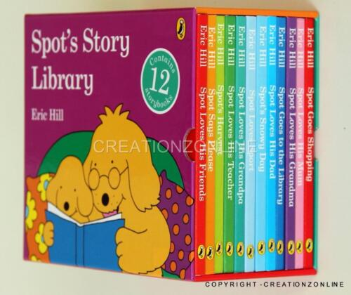 SPOT's Story Library 12 Story Book Set Collection Boxed by  Eric Hill New Spots