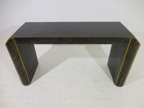 Original Maitland Smith Tessellated Stone Console Table Hollywood Regency Modern