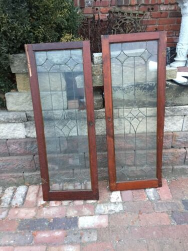 """Sg 1152 2 Available Price Separate Antique Leaded Beveled Window 19 7/8"""" X45 7/"""