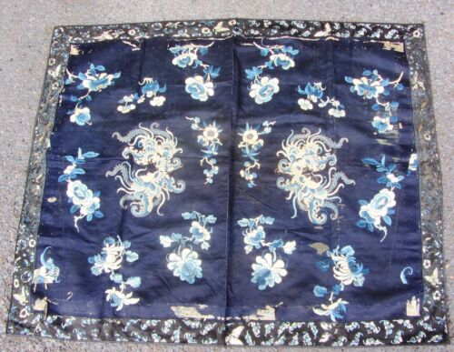 Large Fine Antique 19TH Century? Chinese Embroidered  Silk Embroidery Panel