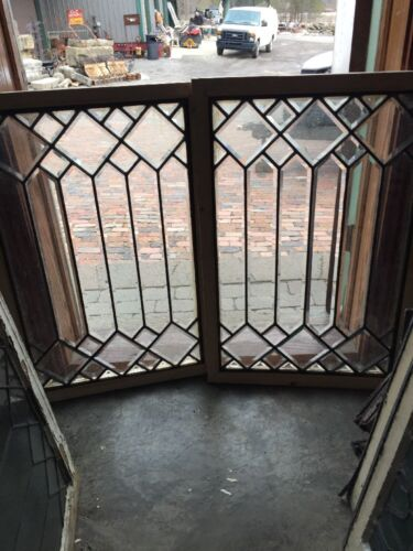 Sg 1160 2 Available Price Separate Antique All Beveled Glass Window