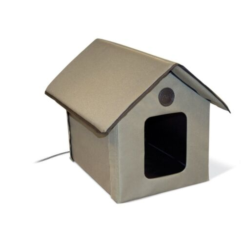 K&H Pet Products Outdoor Thermo Kitty House w/Removable Lectro-Soft Heated Floor