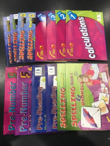 14 books Educational Learning ladder Spelling, calculations, reading