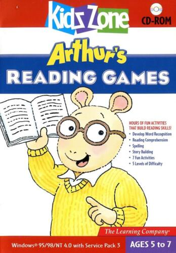 Arthur's Reading Games Windows 7 Computer Game Spelling Word Recog Fun Age 5-7+