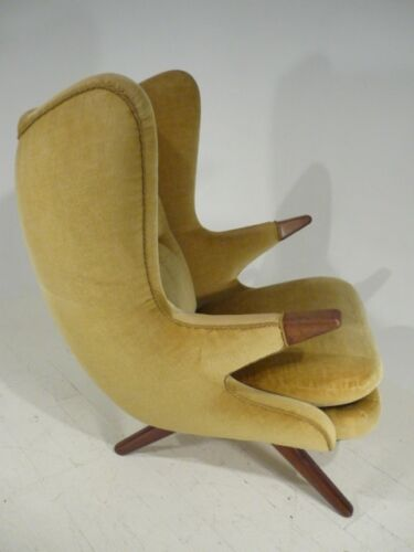 RARE 50's Danish Modern Svend Skipper Papa Bear/Egg Style Wingback Lounge Chair