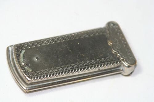 rare ANTIQUE W. Avery & Son Redditch silver plated casket NEEDLE CASE