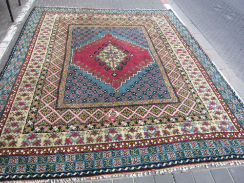 ANTIQUE MOROCCAN CARPET RUG HAND MADE 305x257-cm / 120.0x101.1-inches