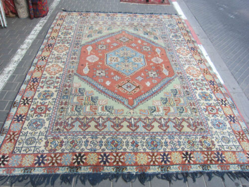 ANTIQUE MOROCCAN CARPET RUG HAND MADE 330x244-cm / 129.9x96.0-inches