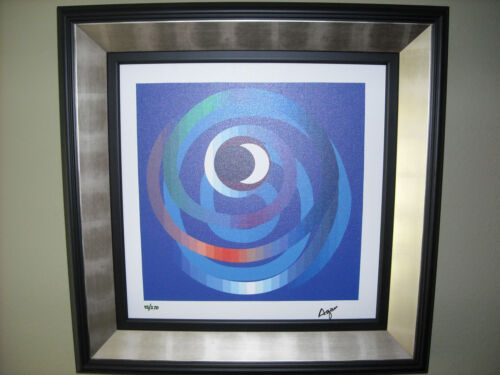 Yaacov Agam Giclee Lithograph on Canvas, Sun and Moon Intimacy, Abstract Art