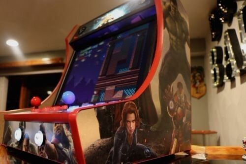 MDF Bartop Arcade Cabinet - T-Molding Cuts Included! Do It Yourself Kit