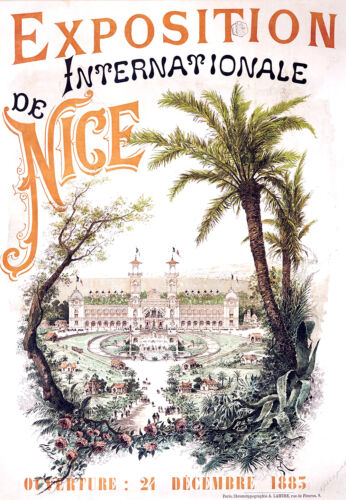 Repro Affiche Exposition Internationale - Nice 1883