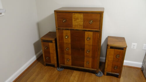 Antique Art Deco 7 Piece Bedroom Set