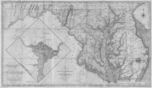 1794 MD MAP Selby on the Bay Shady Side Silver Hill Smithsburg Genealogy SURNAME
