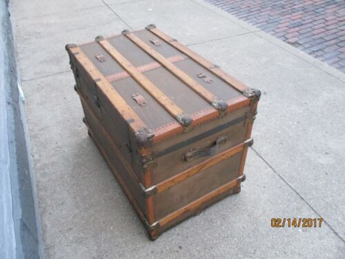 Mendel Drucker Cincinnati  - Antique Steamer Trunk