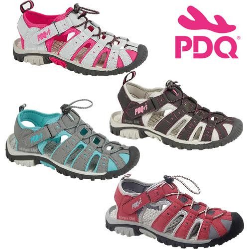 LADIES PDQ SUMMER SPORT ADVENTURE CLOSED TOE SANDALS WALKING TRAIL HOLIDAY SHOES