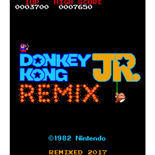 Top Holiday Gifts Donkey Kong Jr Remix (DKJr) Free Play and High Score Save Kit Arcade