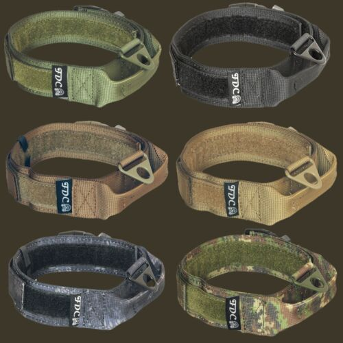 K9 Dog Tactical COLLAR Molle Handle Training HOOK & LOOP Large sz M, L, XL, XXL