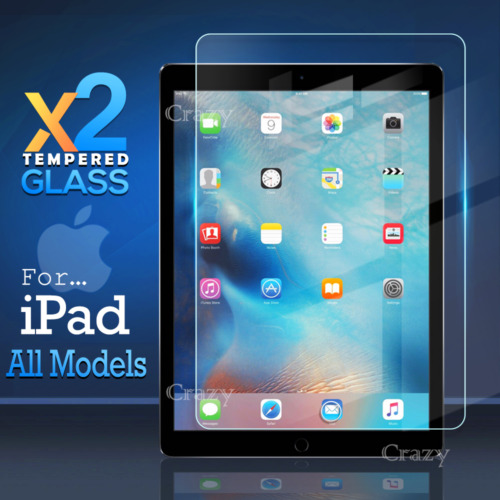 2X Tempered Glass Screen Protector For Apple iPad 4 Air 1 2 Mini 5th 6th 7th Gen