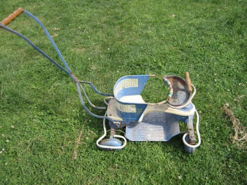 Vintage Taylor Tot Wood and Metal Baby Buggy Stroller Walker Suspension