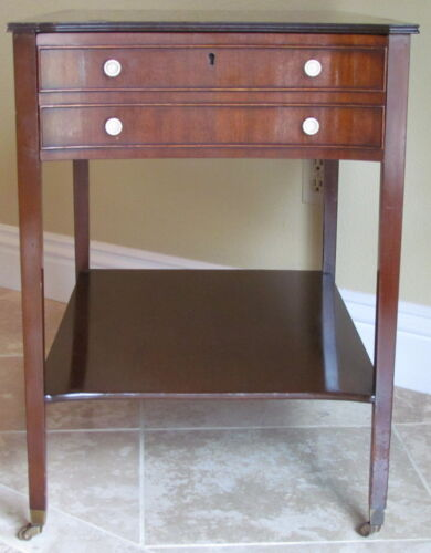 Kittinger of Buffalo Federal Style Drawer Side Table Mahogany Wood
