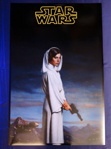 Star Wars Princess Leia White Outfit Limited Edition Art Print Poster 24X36 SLEI