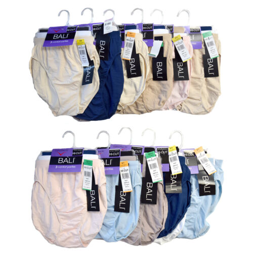 New With Tags Bali Comfort Revolution Hi Cut Briefs - 3 Pack