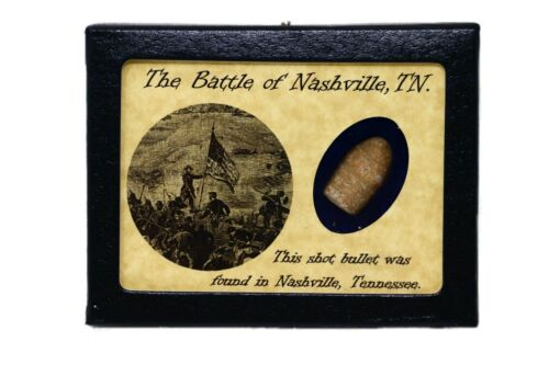 Shot Bullet from The Battle of Nashville, TN with Display Case and COABullets - 103996