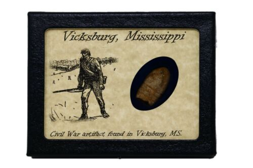 Shot Bullet Relic from Vicksburg, Mississippi with Display Case and COABullets - 103996