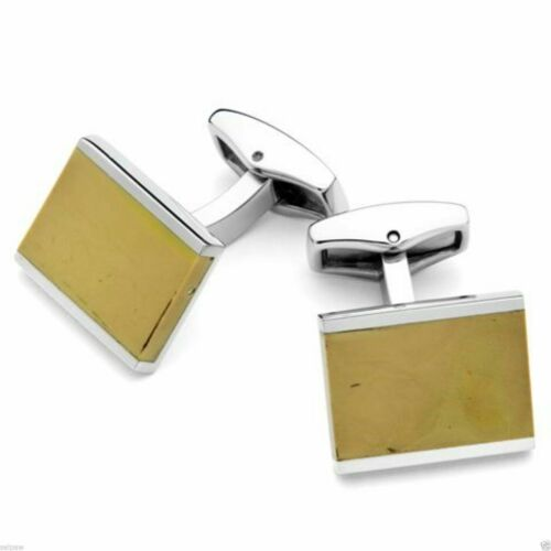 Monteverde® USA SAND Stainless Steel Cufflinks, Hand Polished
