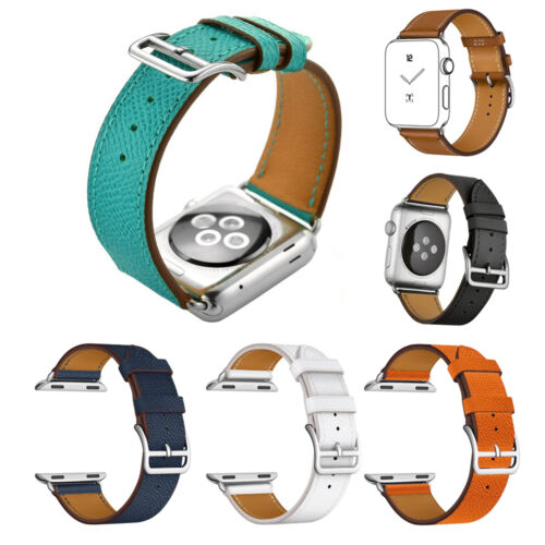 Single Tour Herme Cuff Genuine Leather watch Band Wrist Strap For Apple watch