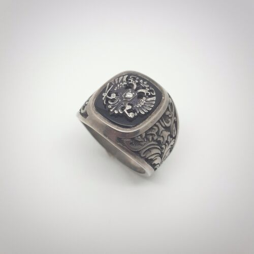 Imperial Russian Presentation Silver Rose Diamond Ring