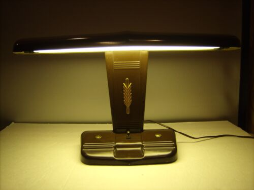 Vintage Art Deco Desk Lamp Moe Brothers A-125 Works Metal Aviator Airplane Style