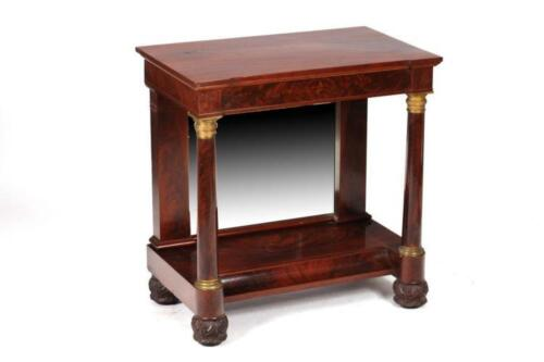AMERICAN, BALTIMORE EMPIRE MIRRORED MAHOGANY PIER TABLE, Early 19th C... Lot 944