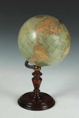 LATE 19TH CENTURY W. & A.K. JOHNSTON TABLE GLOBE, Marked with paper l... Lot 804