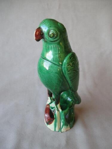 """FABULOUS CHINESE CERAMIC """"PARROT"""" ROOF TILE / FINIAL"""