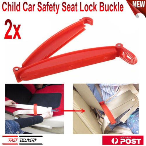 2X Car Baby Safety Seat Strap Belt Harness Chest Clip Kid Safe Fixed Lock Buckle