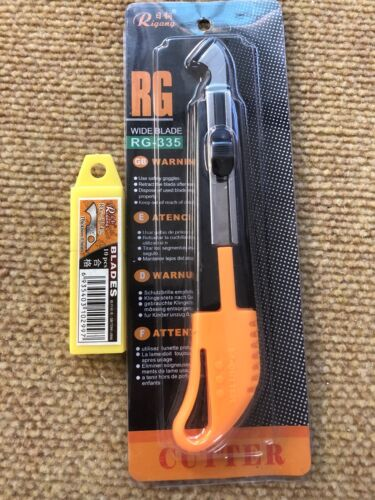 RG Cutter Sharp for Perspex Knife With 1 Box Of Blades Acrylic Plastic RG-335