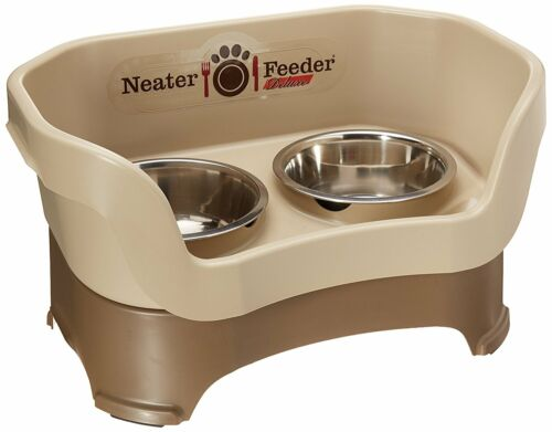 Neater Feeder Deluxe | Large Dog | Cappuccino Elevated Dog Bowl Dish Mess Drip