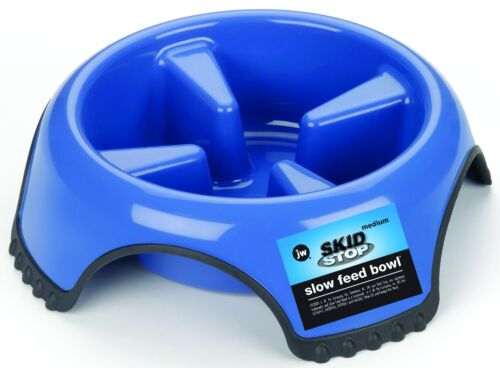 JW Pet Bowl Skid Stop Slow Feeder- MEDIUM 1 cups Free Shipping